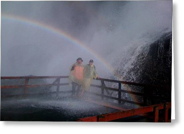 Rainbow Crazy Greeting Card by Matthew Slowik