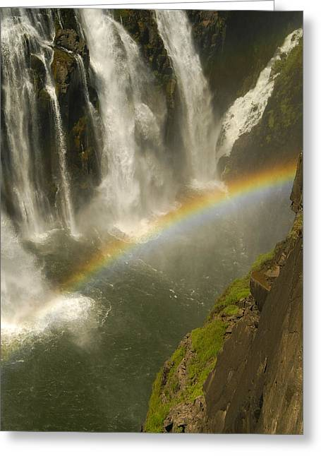 Rainbow Falls Greeting Card