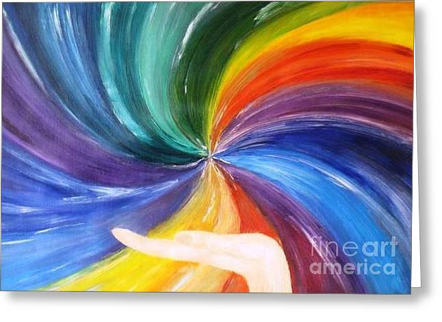 Rainbow For My Son Greeting Card by AmaS Art