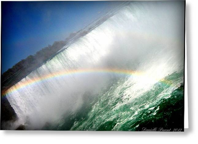 Greeting Card featuring the photograph Rainbow For The Maid Of The Mist by Danielle  Parent