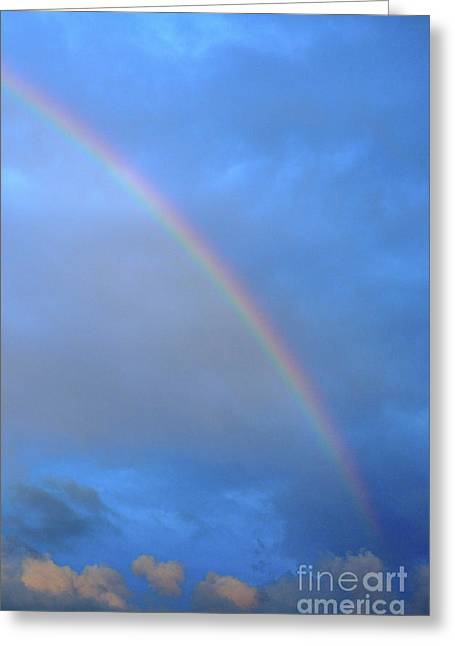 Rainbow In Clouds Greeting Card by Thomas R Fletcher