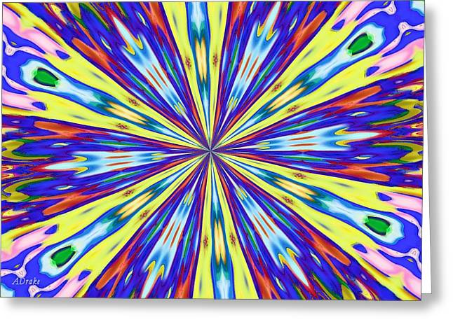 Rainbow In Space Greeting Card by Alec Drake
