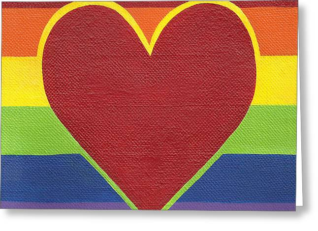 Rainbow Love Greeting Card by Kristi L Randall