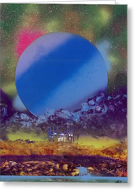 Rainbow Nova Greeting Card by Marc Chambers