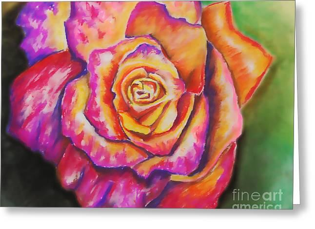 Rainbow Rose Greeting Card by Alissa  Skoczelak