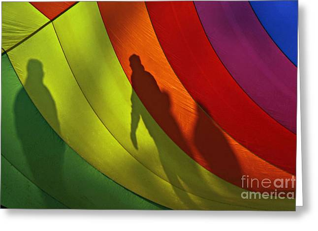 Rainbow Shadows Greeting Card