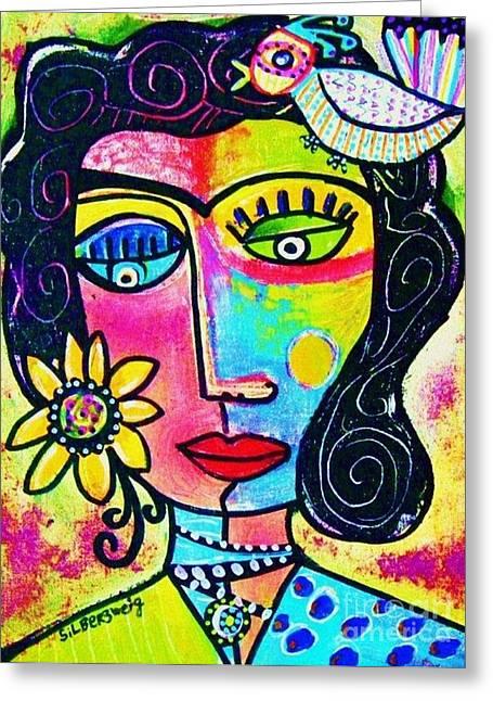 Rainbow Sunshine Frida Greeting Card