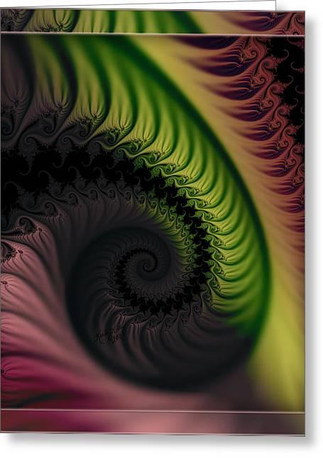 Rainbow Swirl Greeting Card by Karla White