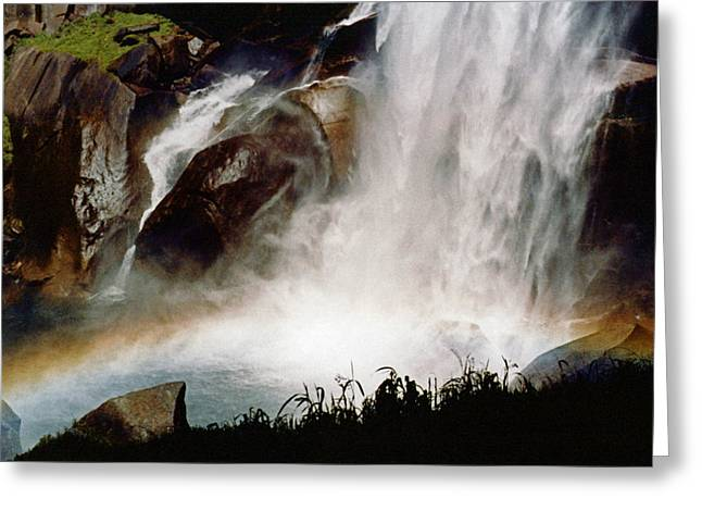 Rainbow Under Vernal Falls 2 Greeting Card