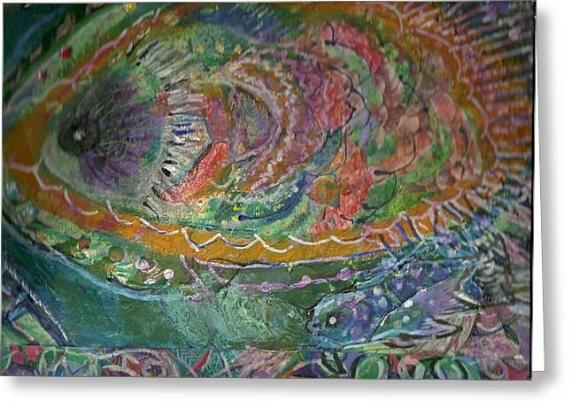 Rainbow Under Water Greeting Card by Anne-Elizabeth Whiteway