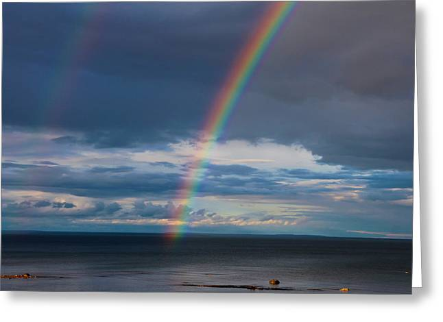Rainbows Are Visions Greeting Card by Rachel Cohen