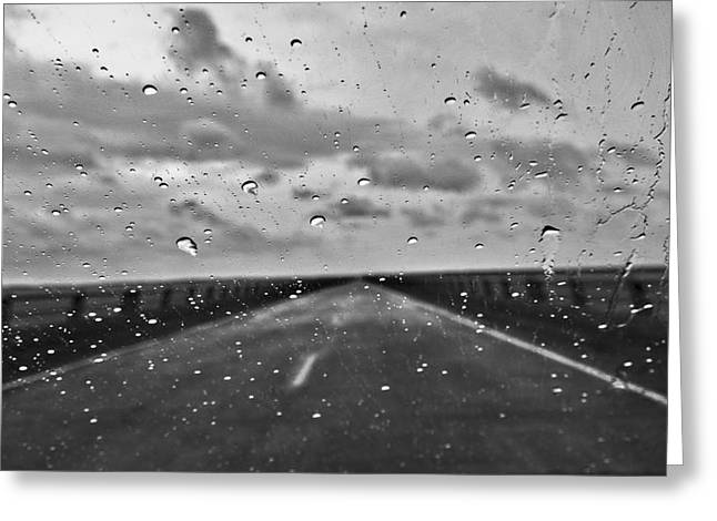 Raindrops On The Windscreen Greeting Card