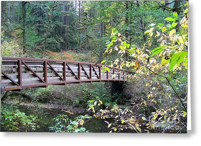 Rainforest Bridge Greeting Card