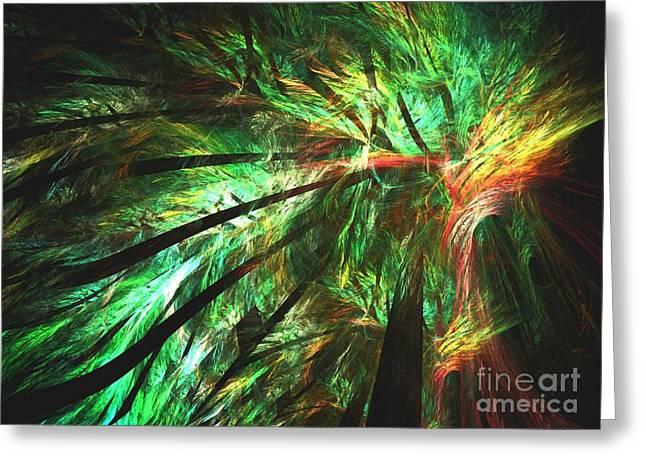 Rainforest Greeting Card by Kim Sy Ok