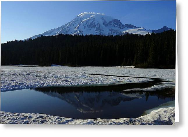 Rainier Reflected Greeting Card
