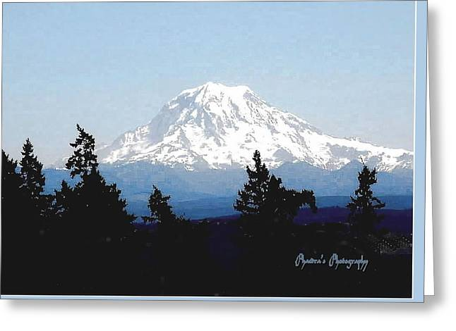 Rainier Reign Greeting Card by Sadie Reneau
