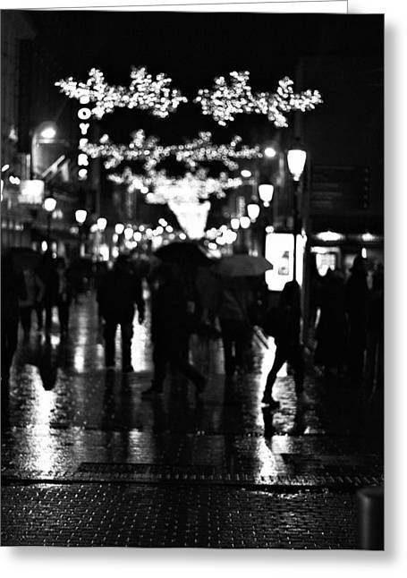 Raining In Dublin Greeting Card by Patrick Horgan