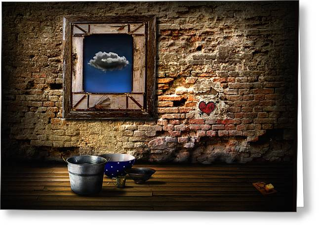 Raining In My Heart Greeting Card by Alessandro Della Pietra