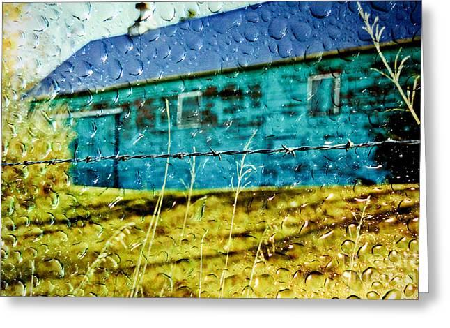 Rainy Barn Greeting Card