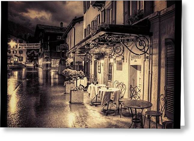 #rainy #cafe #classic #old #classy #ig Greeting Card