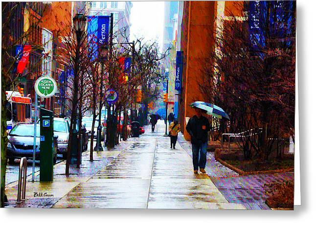 Rainy Day Feeling Greeting Card by Bill Cannon