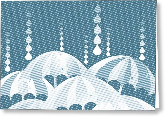 Rainy Day Greeting Card by HD Connelly