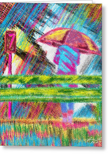 Rainy Day Greeting Card by Kenal Louis
