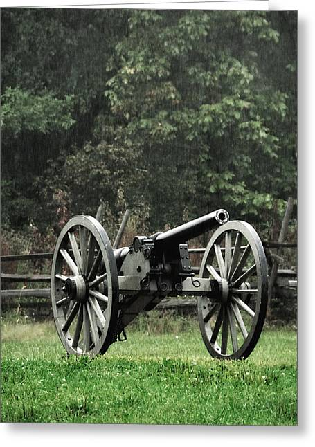 Rainy Day On The Battlefield Greeting Card