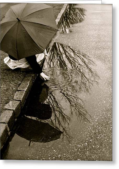 Rainy Day Solitude Greeting Card