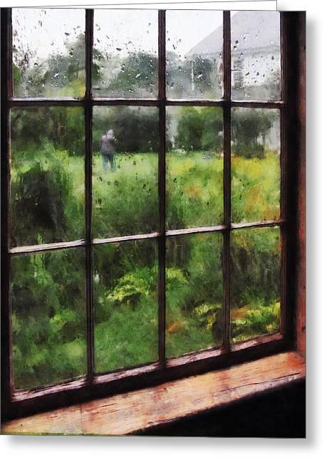 Rainy Day Greeting Card by Susan Savad