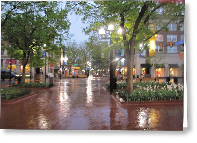 Greeting Card featuring the photograph Rainy Evening In Boulder by Shawn Hughes