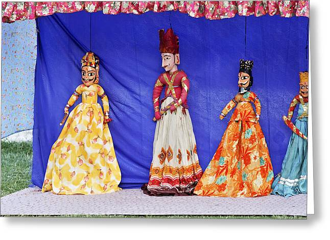 Rajasthan Tribal Puppet Show Greeting Card