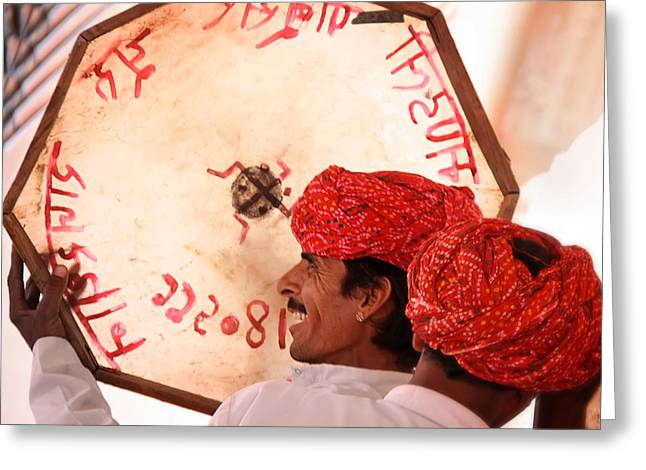 Rajasthani Drummers Greeting Card by Mostafa Moftah