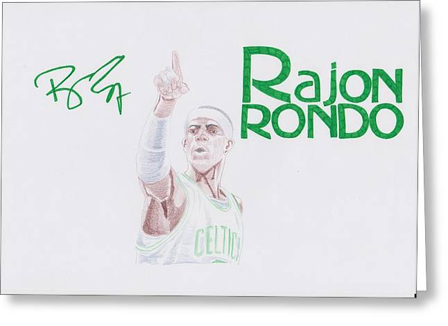 Rajon Rondo Greeting Card by Toni Jaso