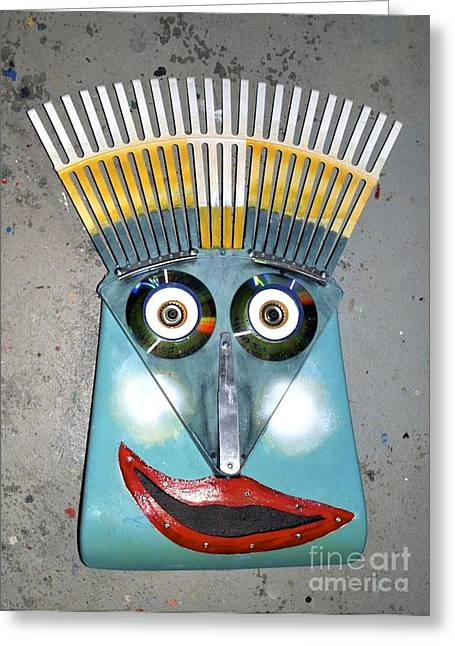 Rake Man Greeting Card