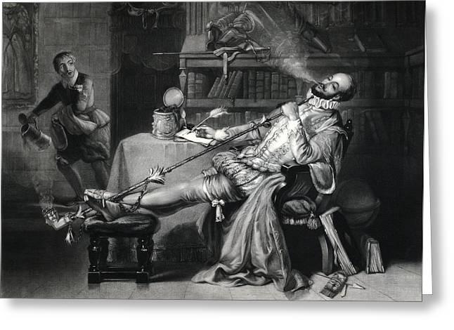 Raleigh Smoking Tobacco, 16th Century Greeting Card