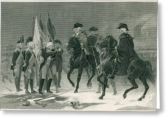 Rall Surrenders, Battle Of Trenton, 1776 Greeting Card
