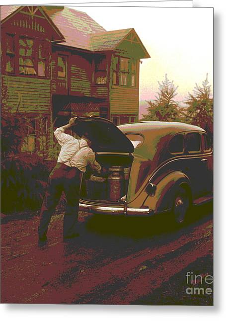Ralph Reitz Loading Produce Greeting Card by Padre Art