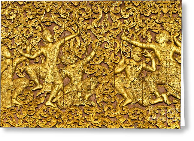 Greeting Card featuring the photograph Ramayana by Luciano Mortula