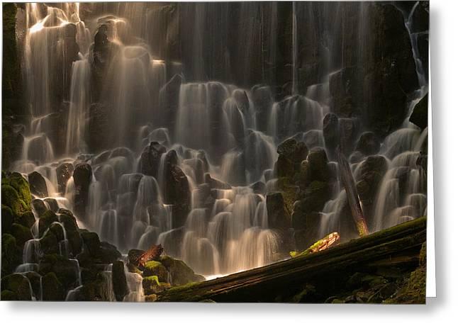 Ramona Falls Or   Greeting Card by Ulrich Burkhalter