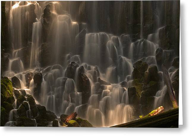 Ramona Falls  Greeting Card by Ulrich Burkhalter