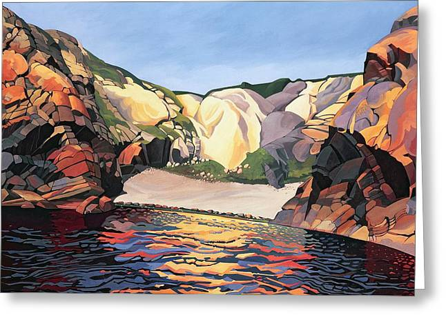 Ramsey Island - Land And Sea No 2 Greeting Card by Anna Teasdale
