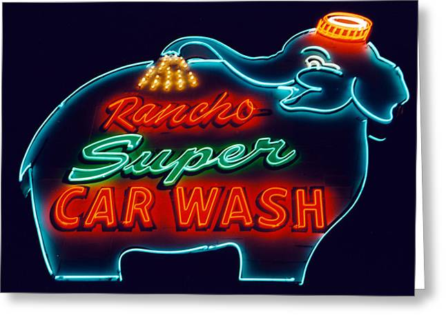 Rancho Car Wash Greeting Card