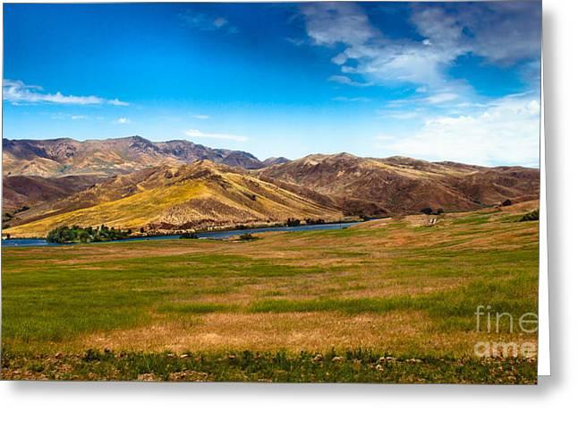 Range Land Greeting Card by Robert Bales