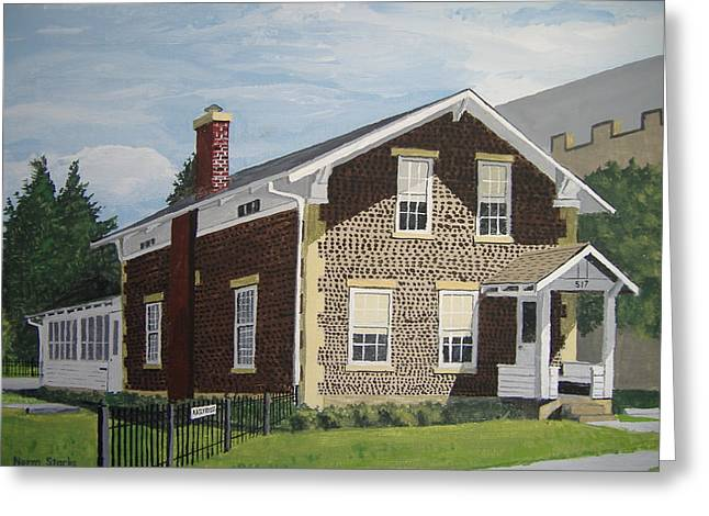 Greeting Card featuring the painting Rasey House by Norm Starks