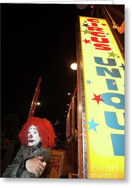 Rash The Clown  Greeting Card by Diane Falk