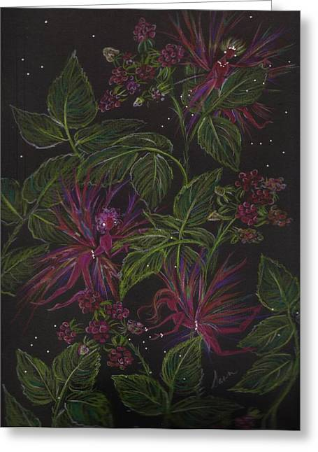 Raspberry Hunting Greeting Card by Dawn Fairies