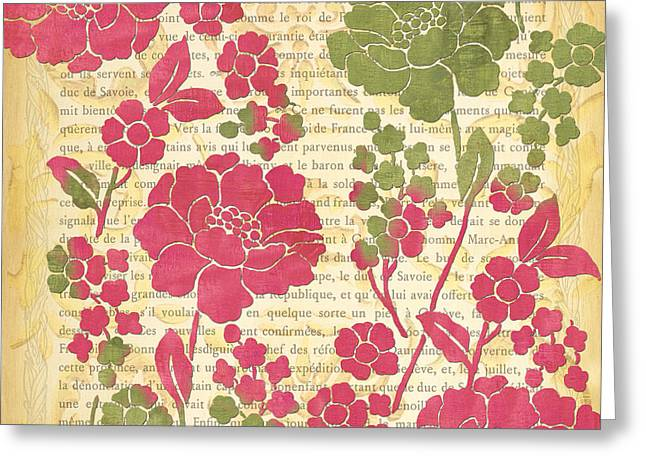 Raspberry Sorbet Floral 2 Greeting Card