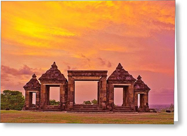 Ratu Boko Is An Archaeological Site Greeting Card
