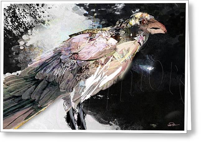 Raven 10 Greeting Card by James VerDoorn